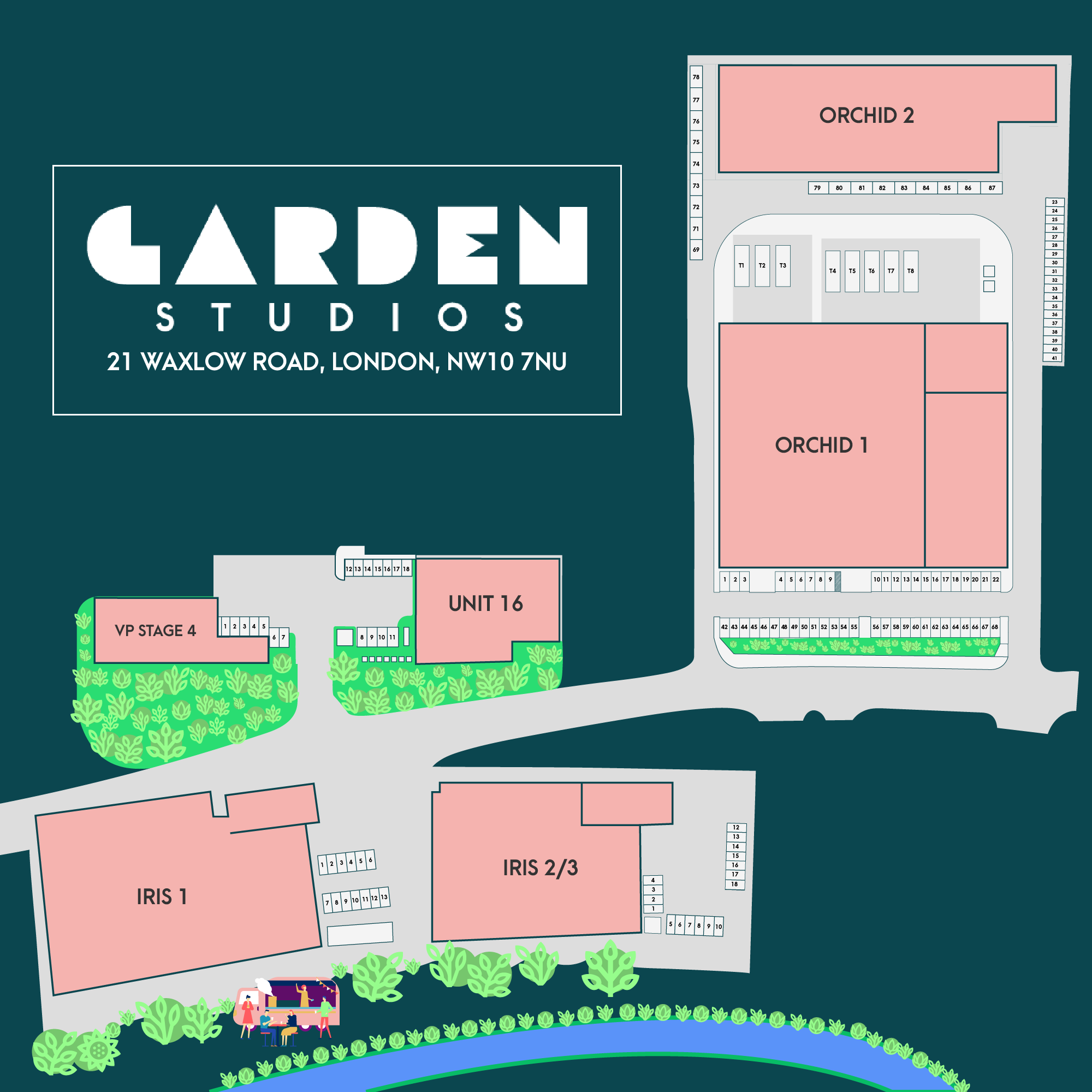Garden Studios Campus Map