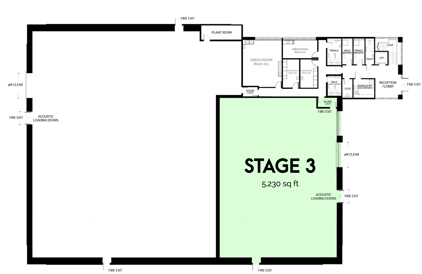 Iris Campus Sound Stage 1 floor plan