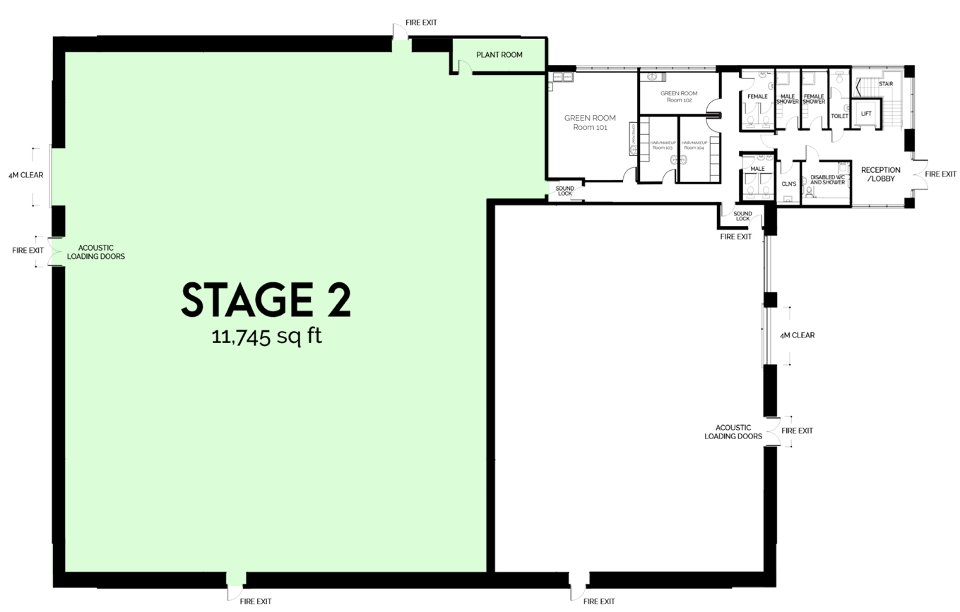 Garden Studios Iris Campus Sound Stage 2 floor plan