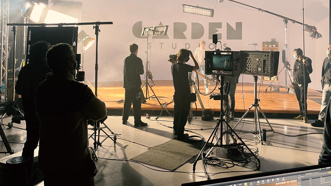 Virtual Production set at Garden Studios