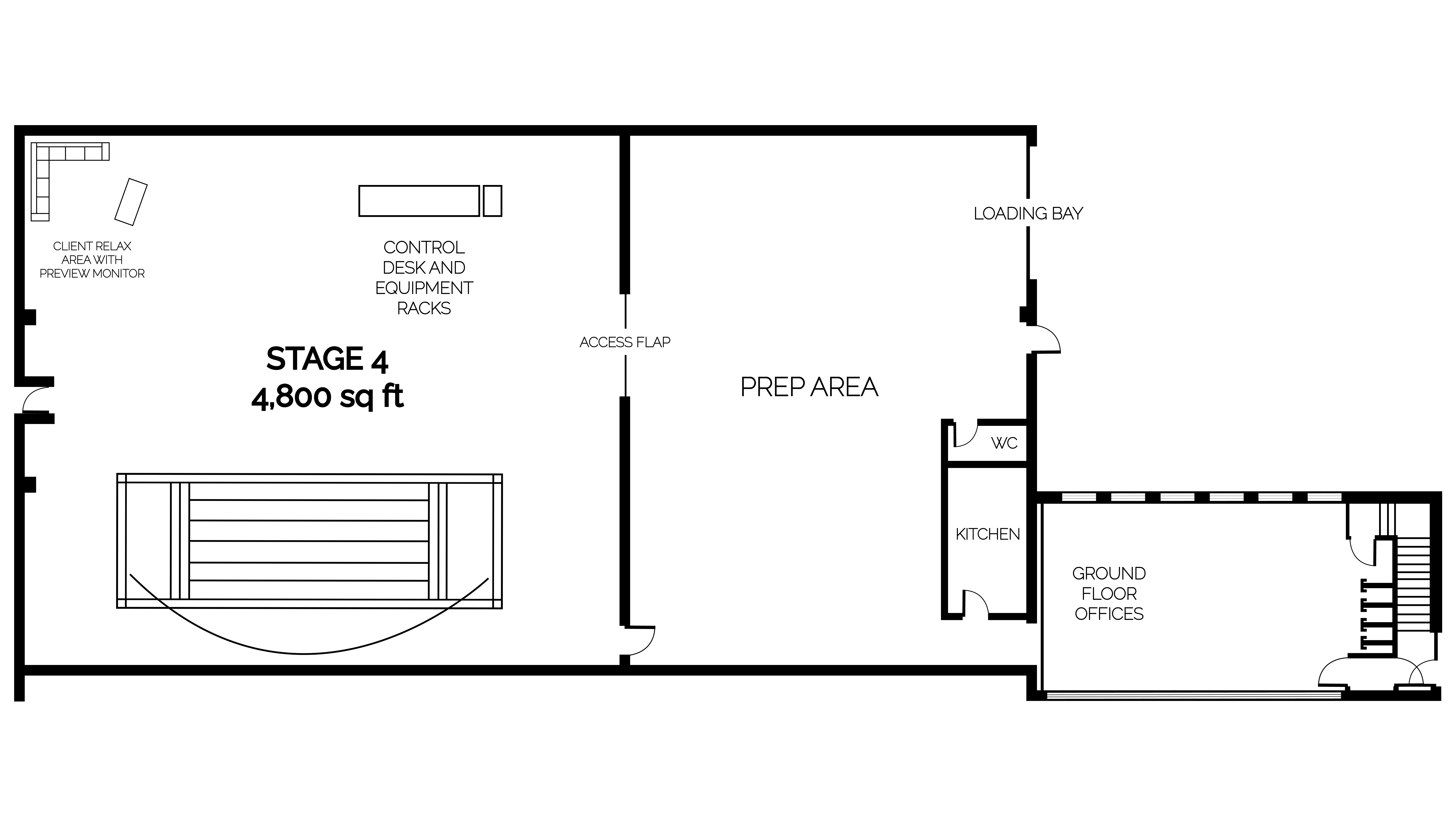 Garden Studios Stage 4 virtual production studio floor plan