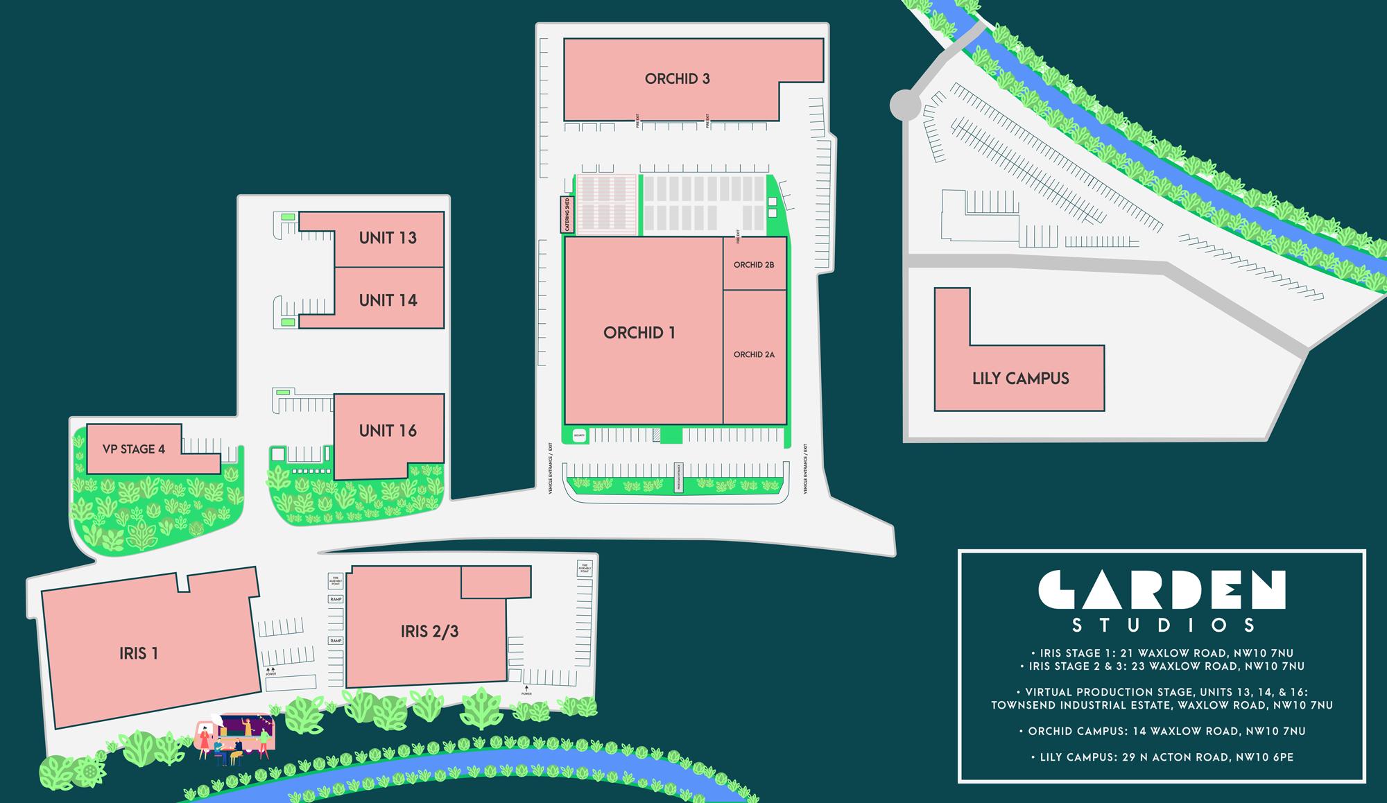 The Garden Studios Campus Map