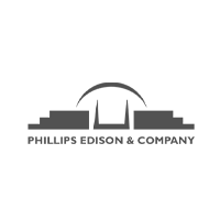 Phillips Edison and Company Logo with graphic of bridge