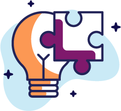 Graphic of lightbulb and puzzle piece