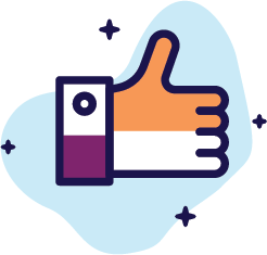 Graphic of thumbs up