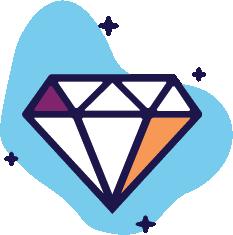 Graphic of diamond