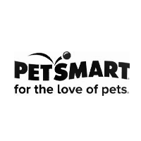 PetSmart logo with tagline for the love of pets