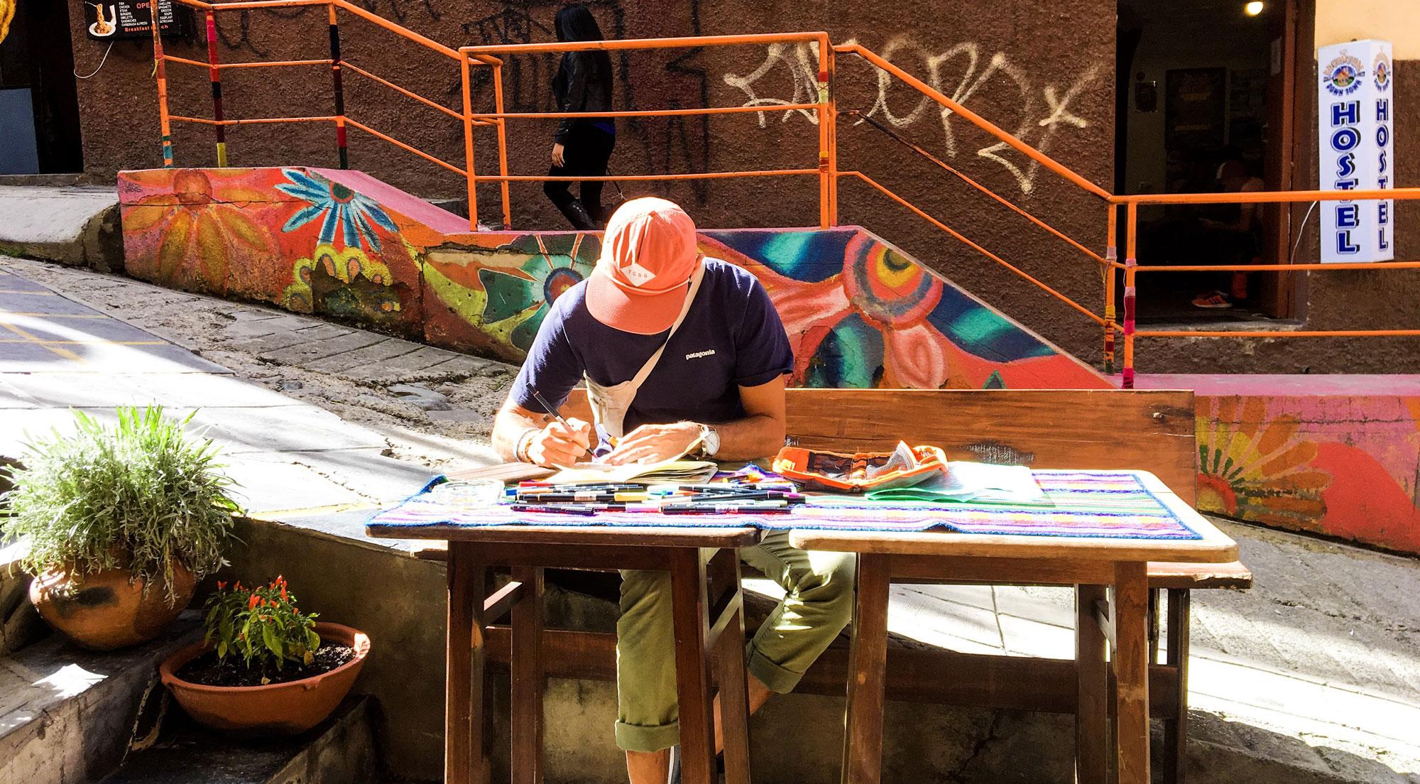 artist in La Paz