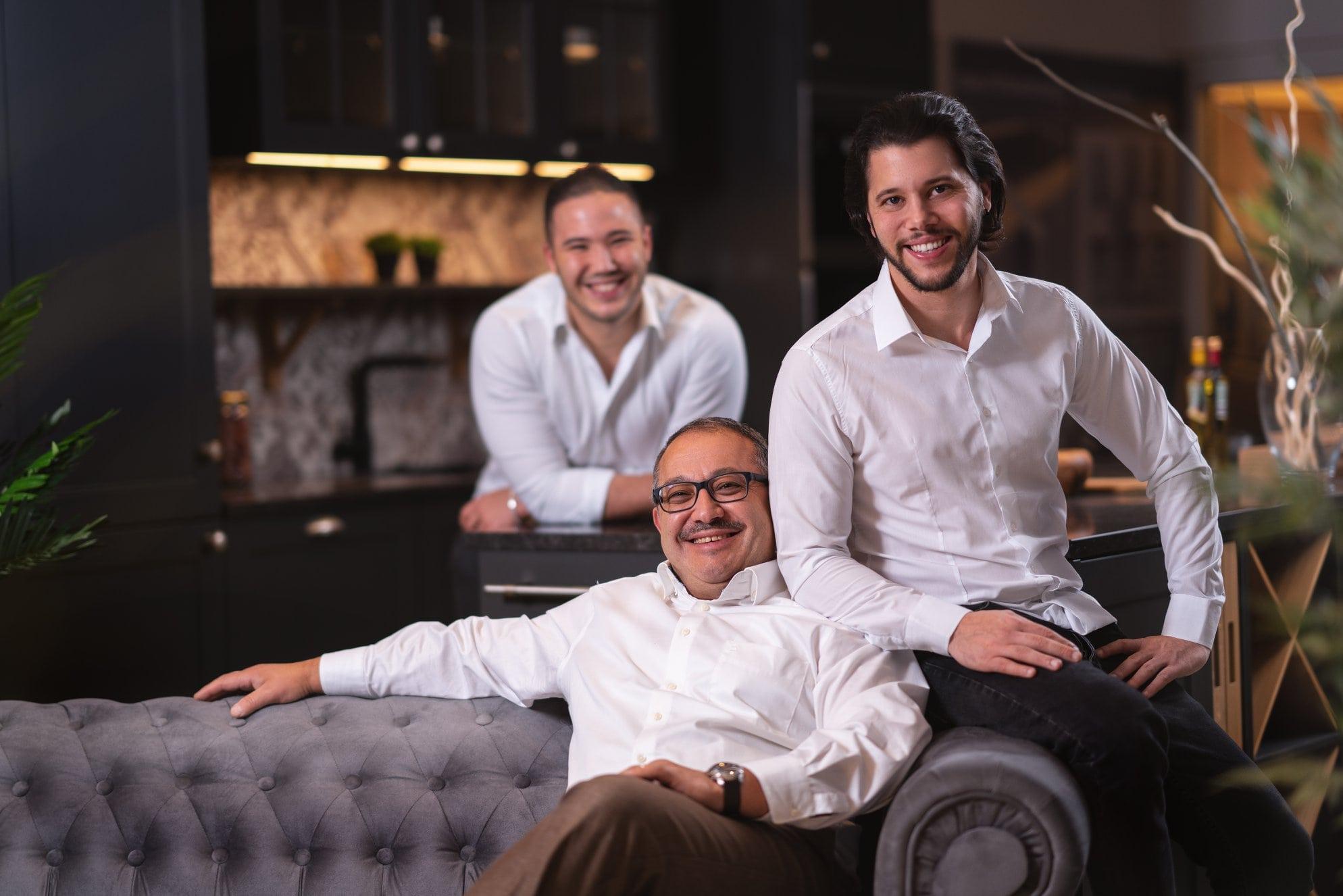 Das offiziellen Teambild des familiengeführten Kuechenstudio segakuechen in lustenau