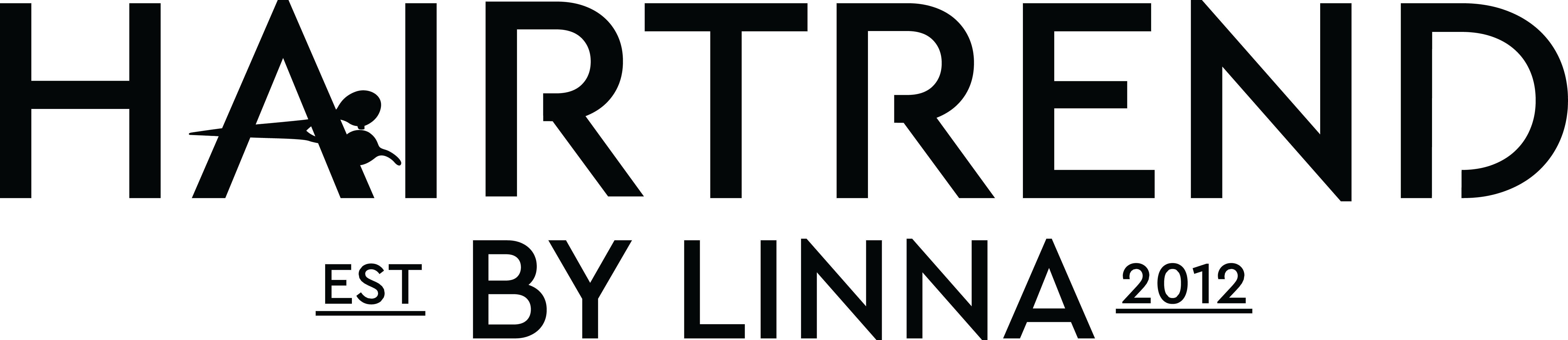 Logo that says Hairtrend by Lina est 2012.