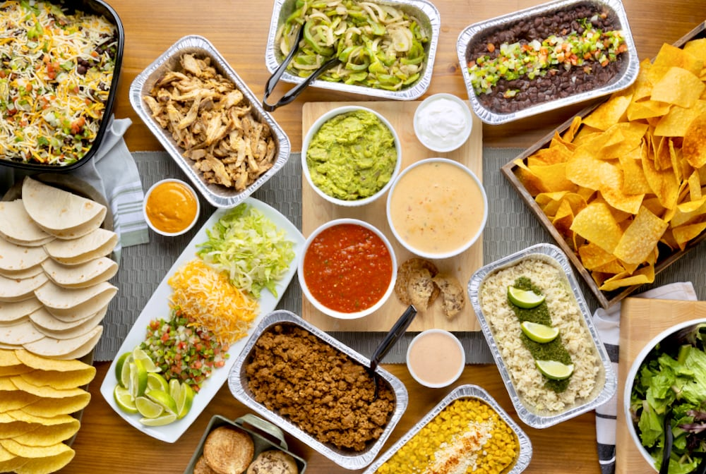 Tacos, chips, dips, quesadillas, salads and more!