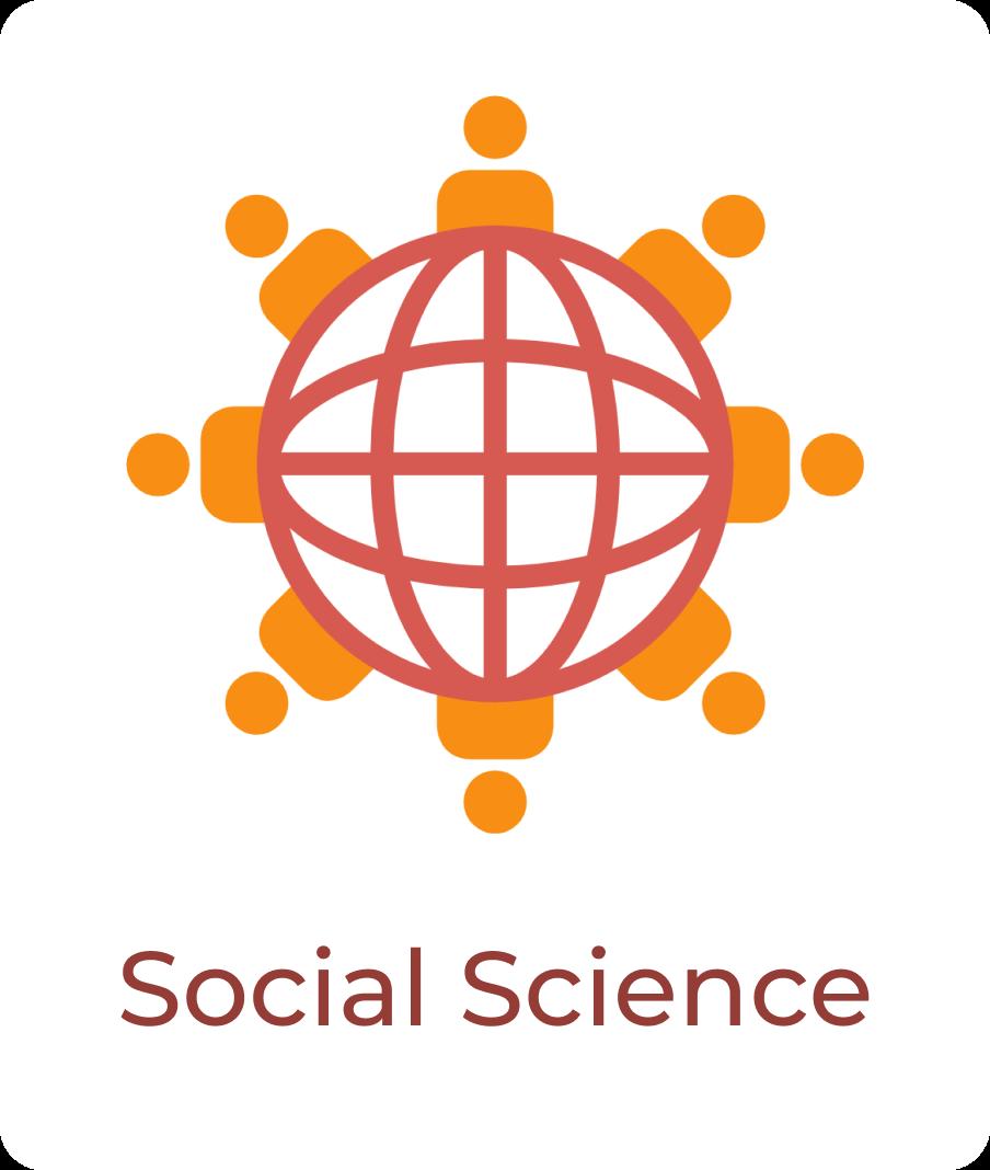 Orange people holding hands around red globe