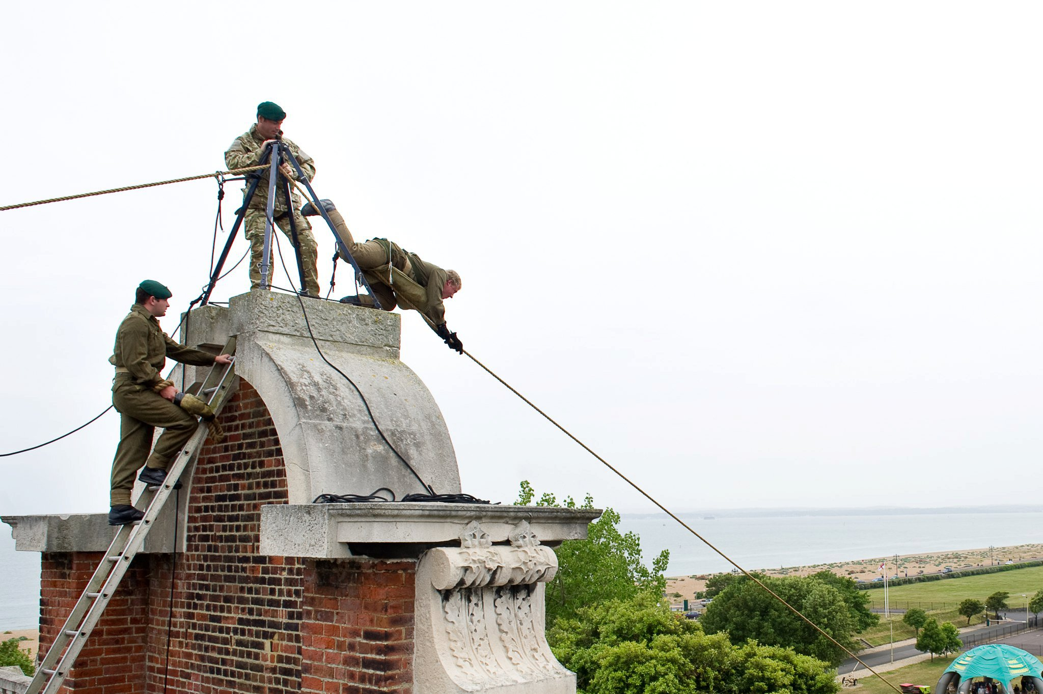 blind veterans uk zip line delivery chaity event with inaccessible solutions