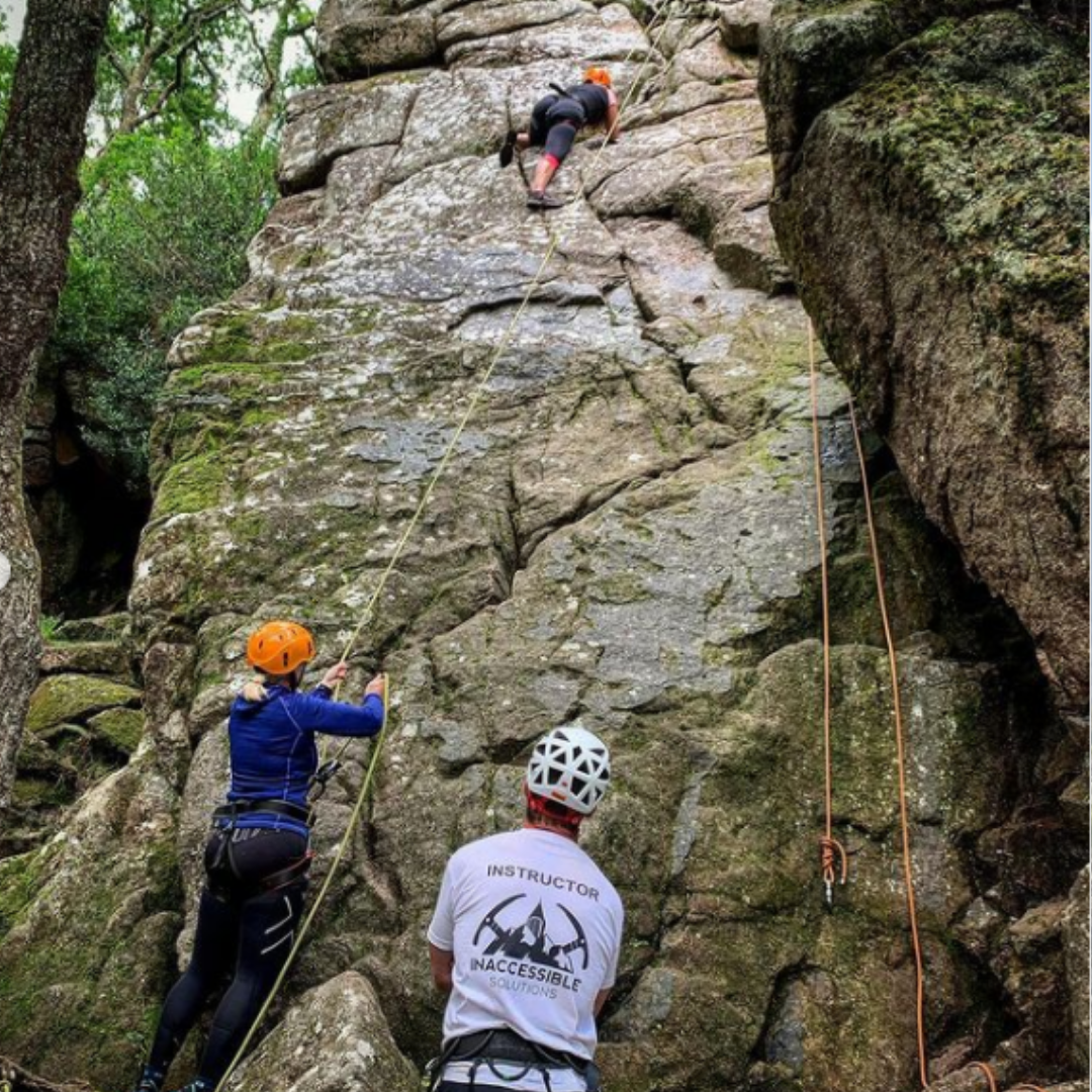 rock climbing day for young people with inaccessible solutions