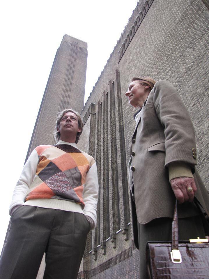 Cees en Greta bij London Tate