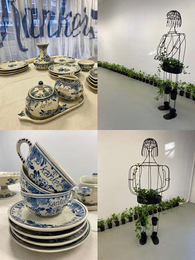 collage beeld en servies