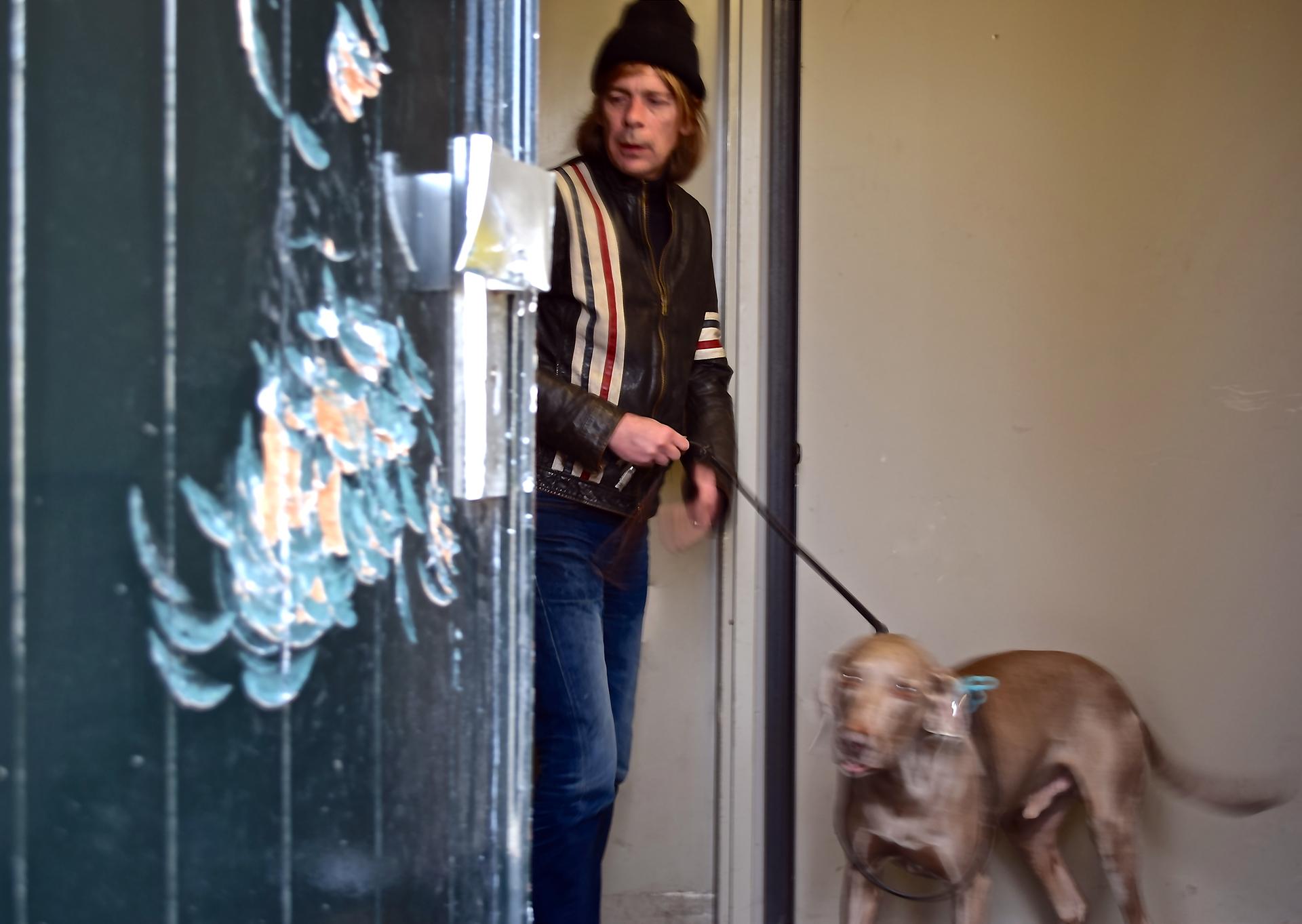 foto Cees Krijnen met hond cees