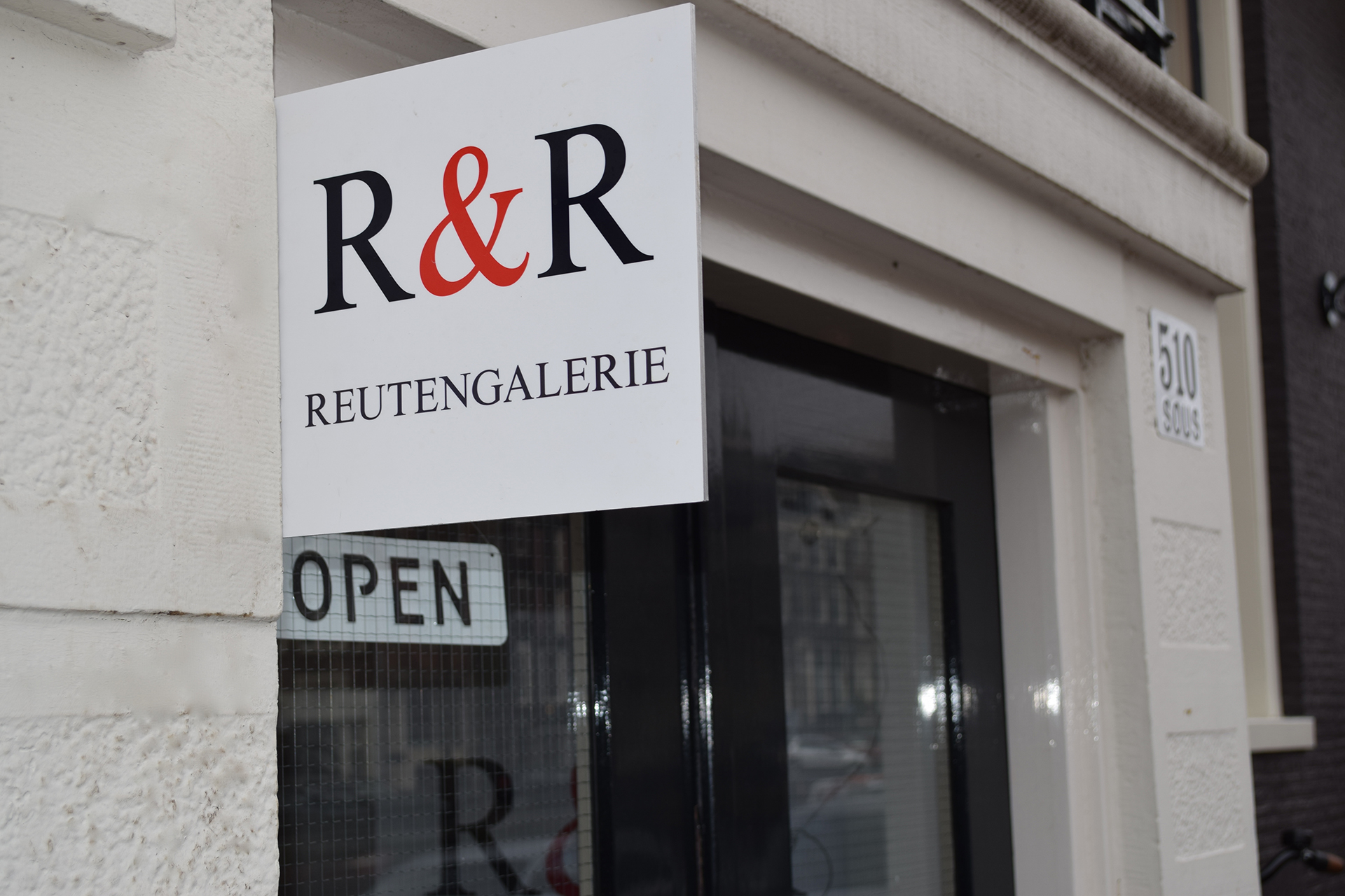 foto entree R&R Gallery Amsterdam