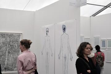 foto impressie van expositie tijdens AMSTERDAM DRAWING, 2015, 2016