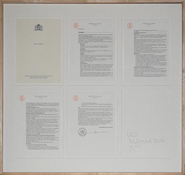 MY WILL AND LEGACY  Foto van testament van Cees Krijnen tijdens AMSTERDAM DRAWING, 2015, 2016