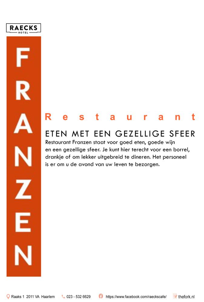 advertentie restaurant Franzen Haarlem