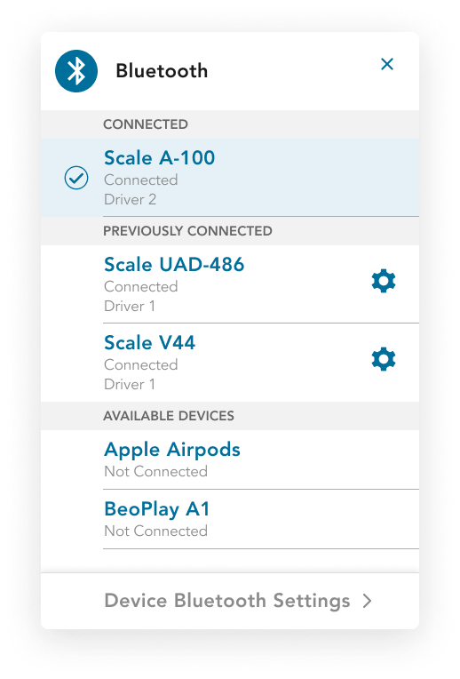 Conservis Mobile Bluetooth UI