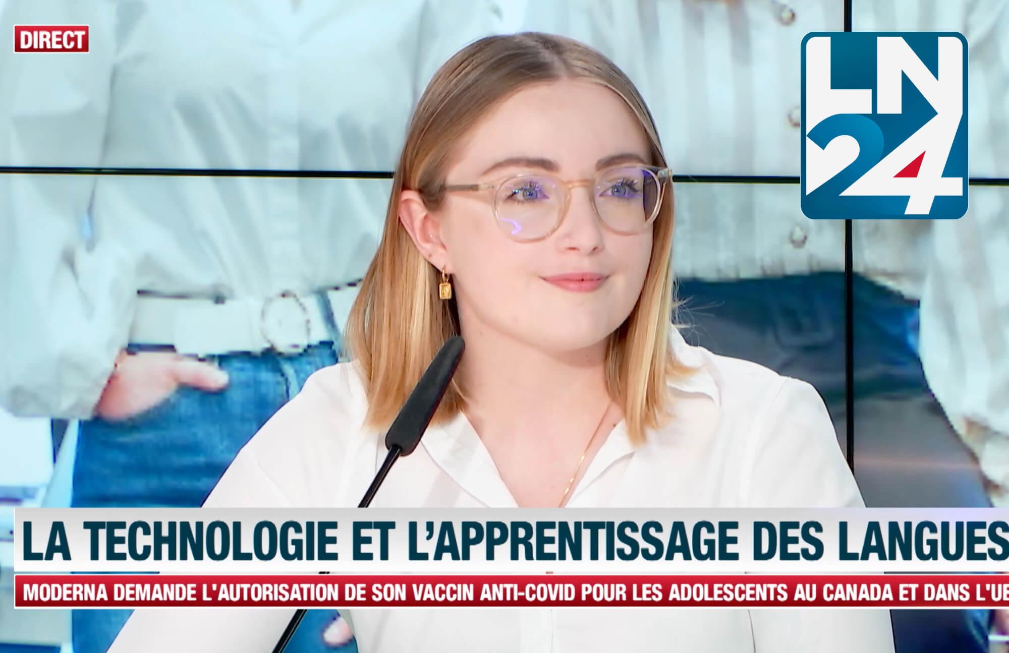 """""""La technologie et l'apprentissage des langues."""" Flowchase était l'invitée de Success Stories sur LN24."""
