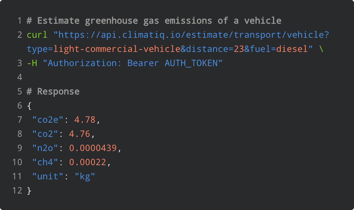 Carbon Accounting API