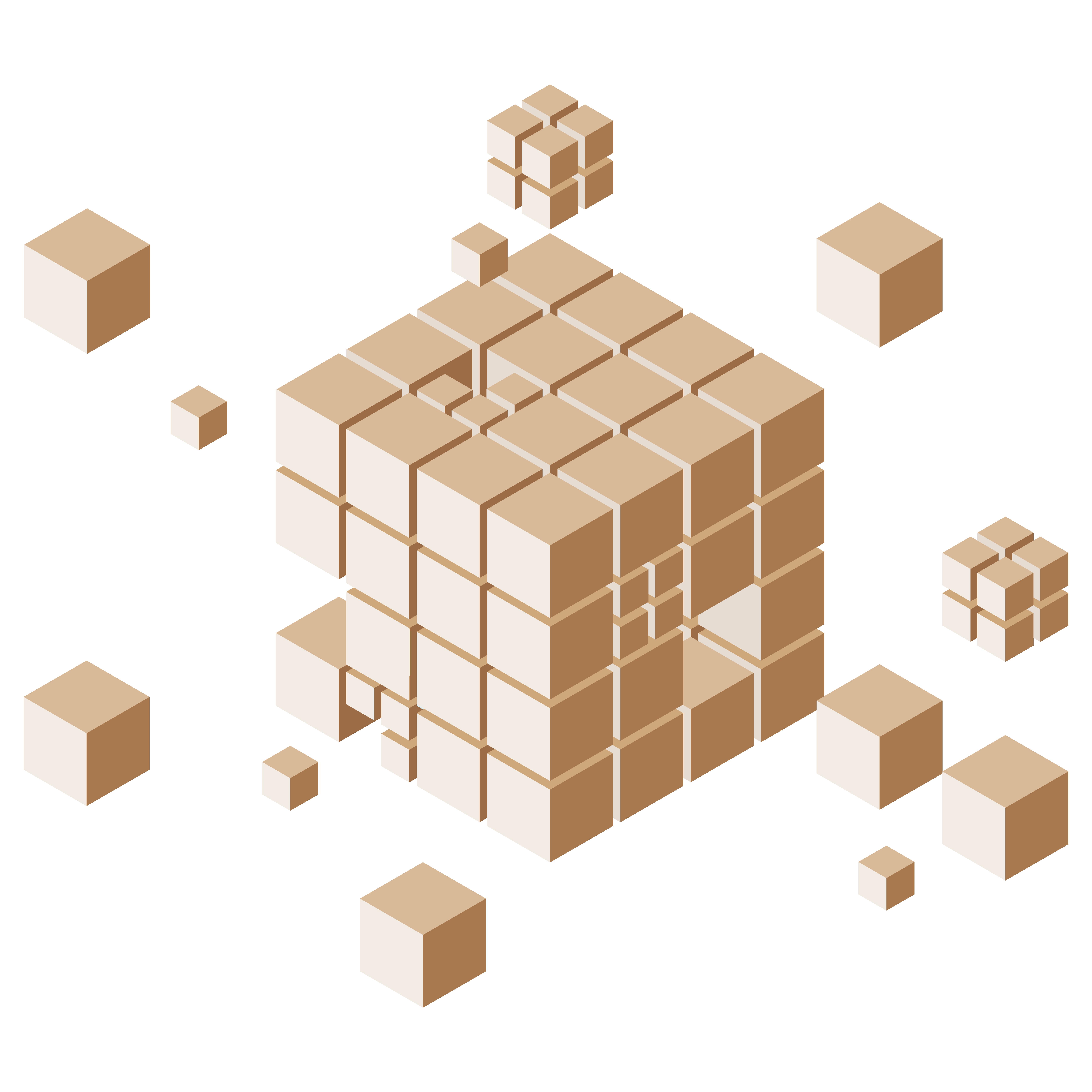 Business intelligence and data analytics illustration