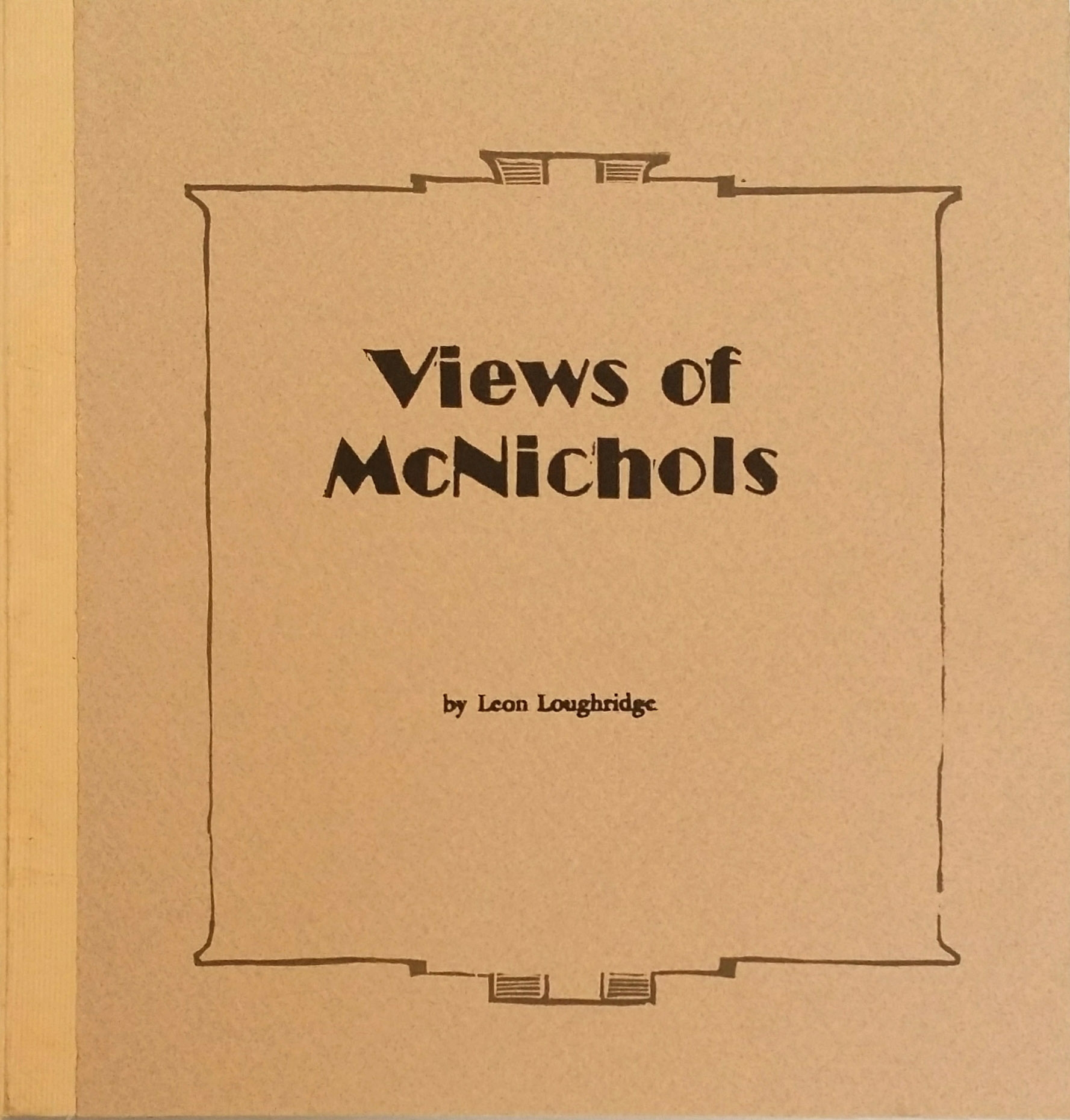 Hand printed book of woodblock by Leon Loughridge