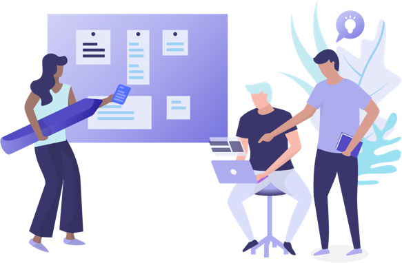 Illustration - people managing.