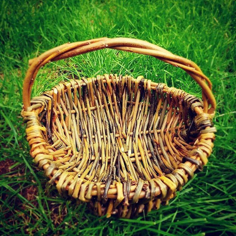 Large Hand Woven Foraging Basket by WyldCraft Wyllow