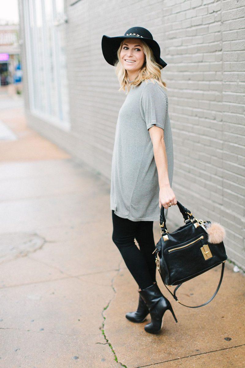 Kaos Oversize dipadukan dengan Legging