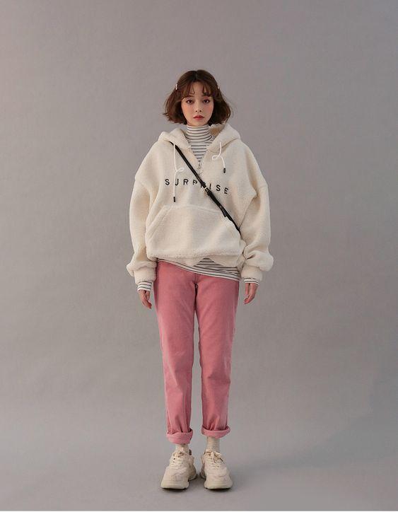 fashion style hoodie lengan panjang