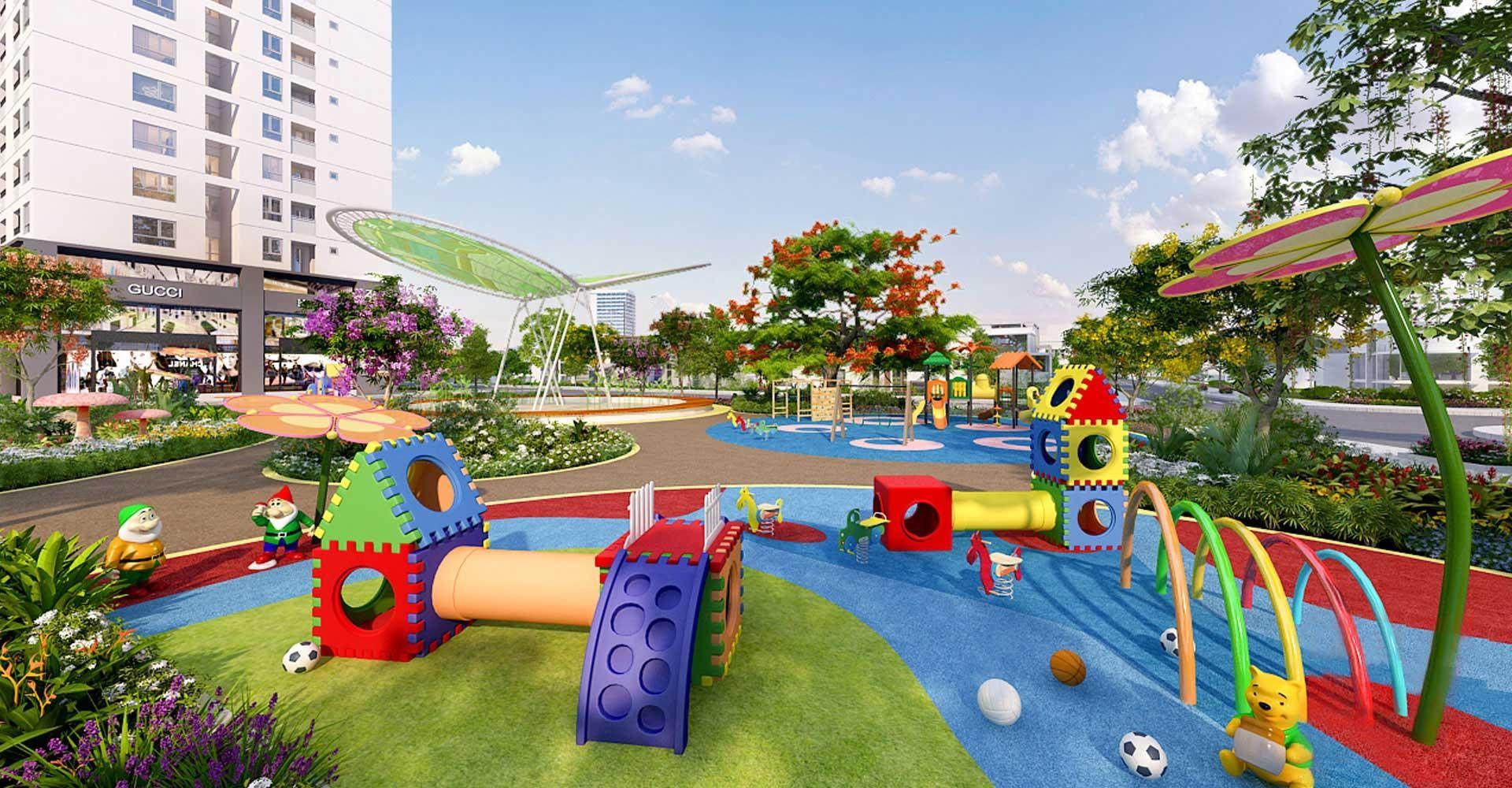 sân chơi tại Vinhomes Wonder Park