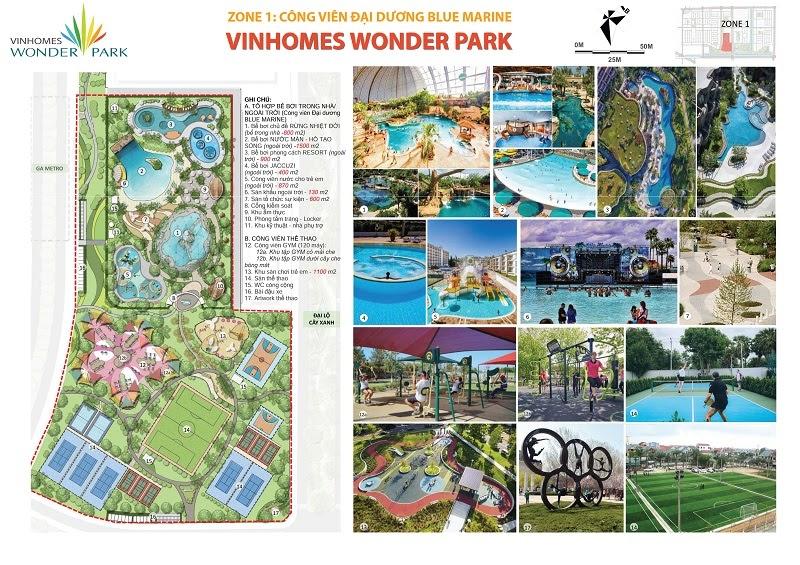 Tiện ích tại Vinhomes Wonder Park Đan Phượng
