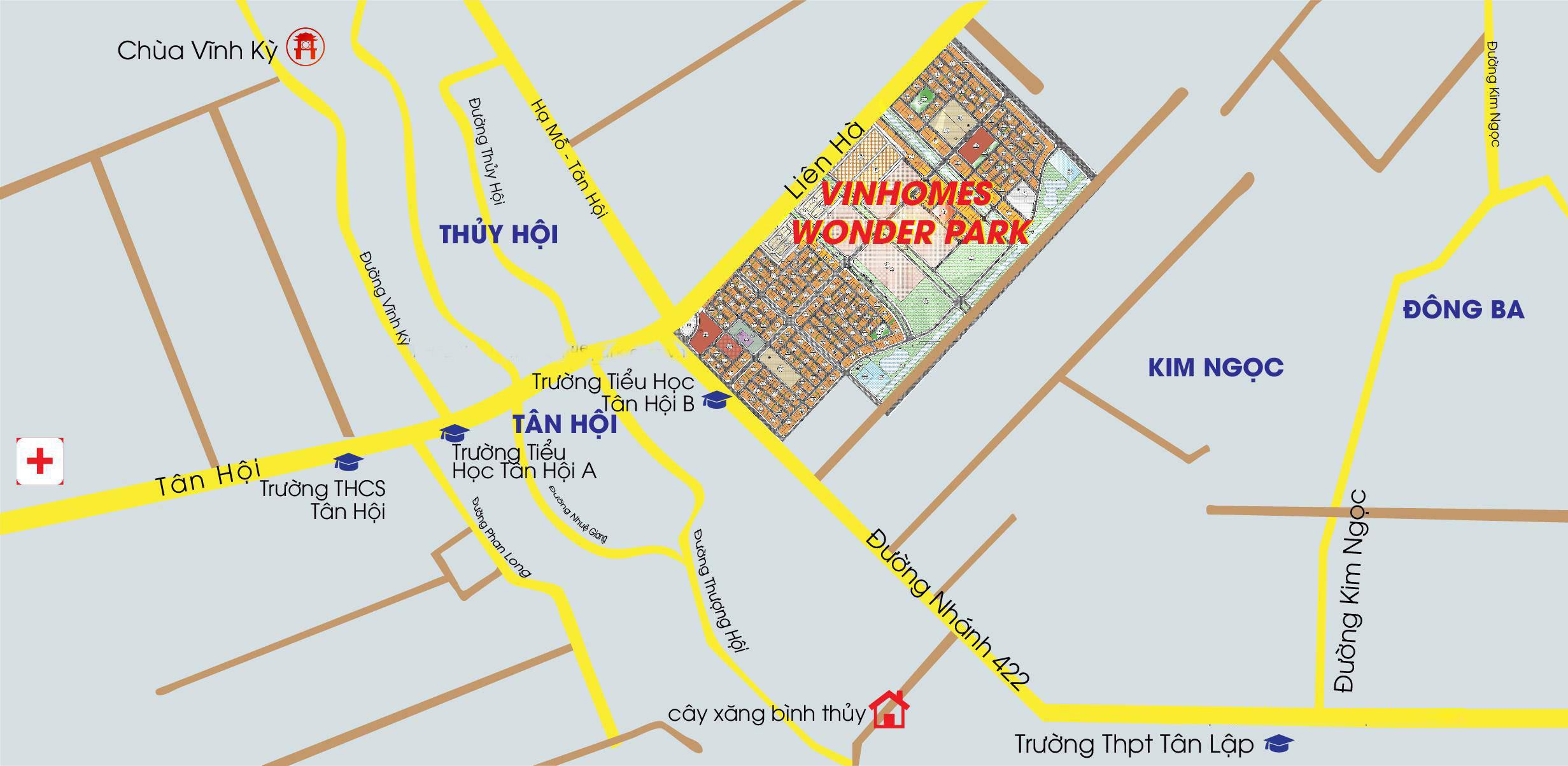Vị Trí Dự Án Vinhomes Wonder Park