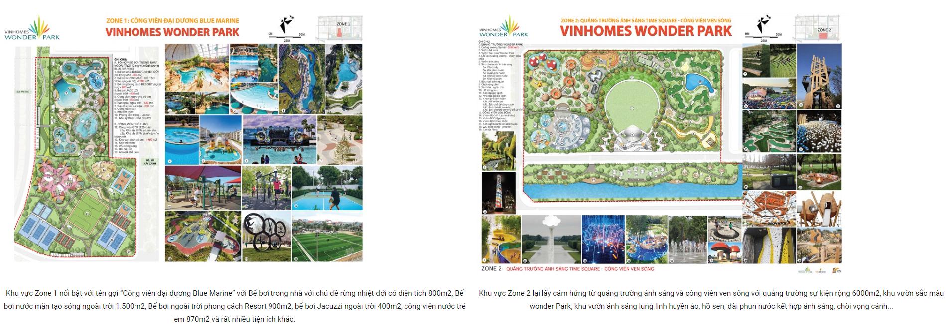 Tiện ích tại dự án Vinhomes Wonder Park Đan Phượng