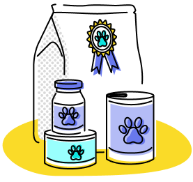 Illustration of cat food