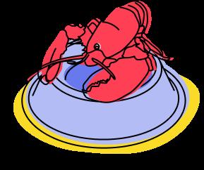 Illustration of lobster
