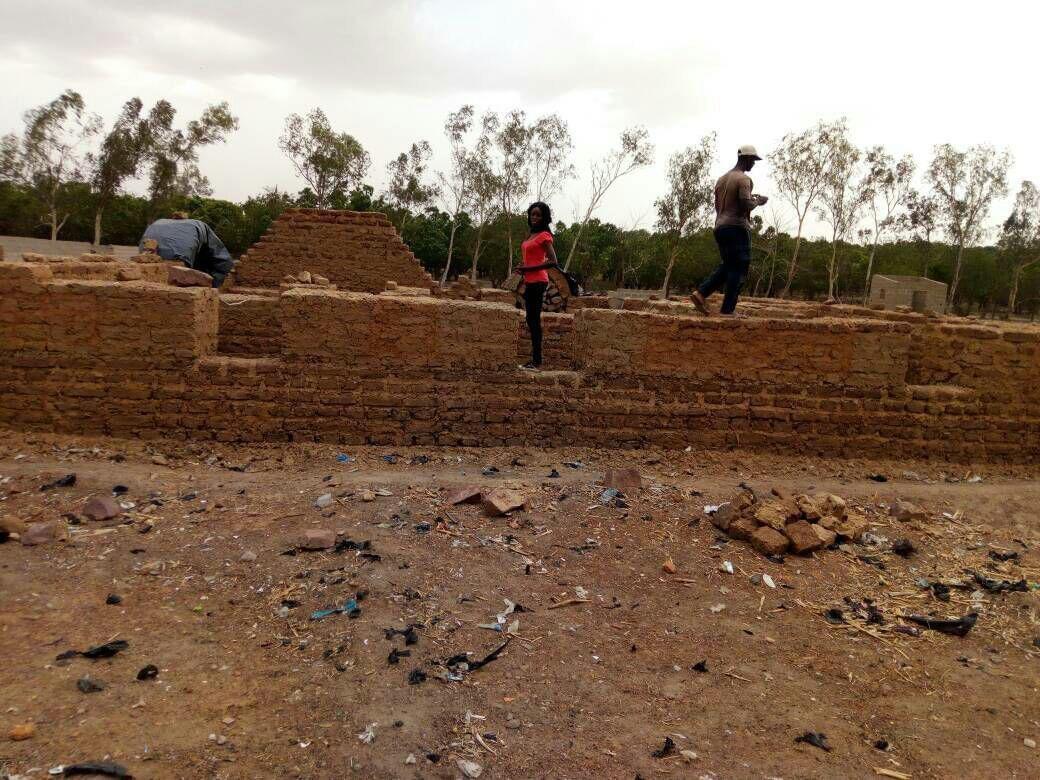 Architecture-Kabakoo - Les débuts du chantier - Nubian Vault - Bamako - Mali