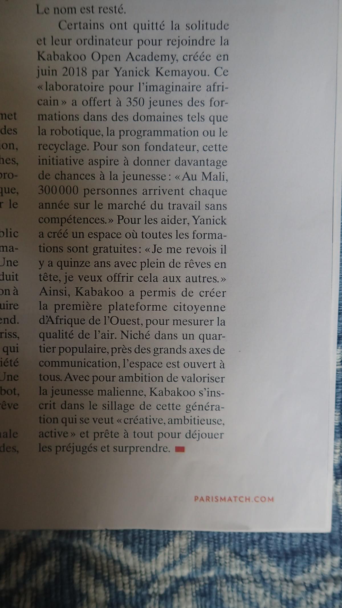 Kabakoo Bamako   Mali in Paris Match
