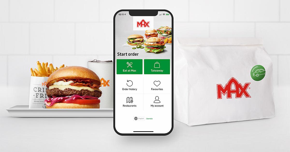 MAX app ordering