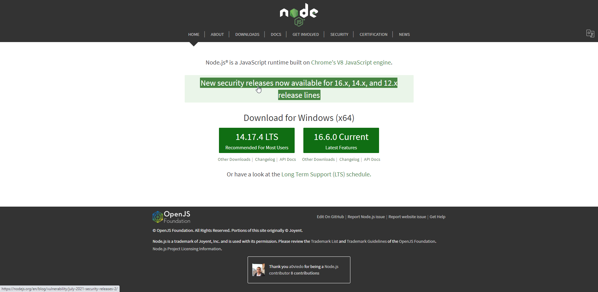 Node.js development
