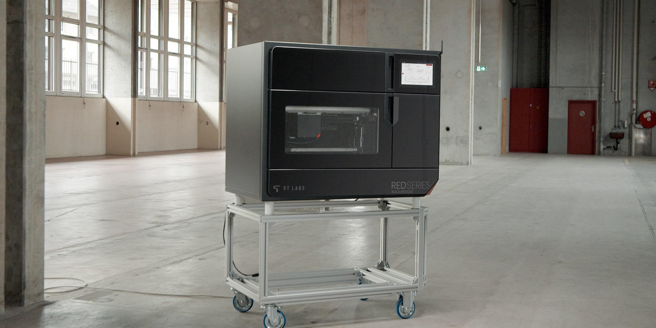 9T Labs build module for 3d printed carbon composites