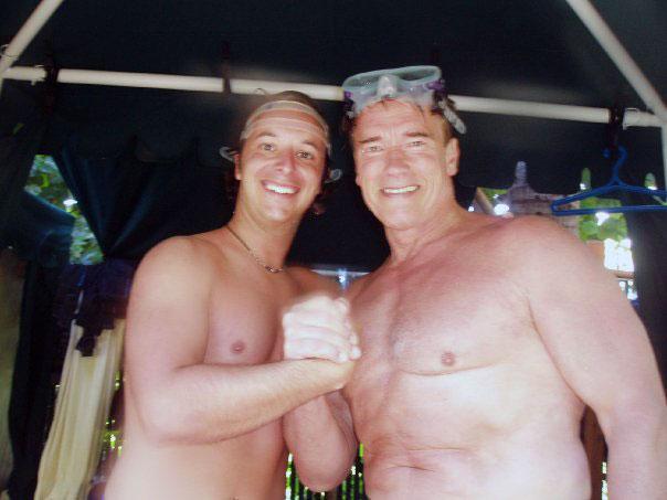 SCUBA Steve with Arnold