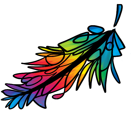 Colorful Feather, Part of My Logo