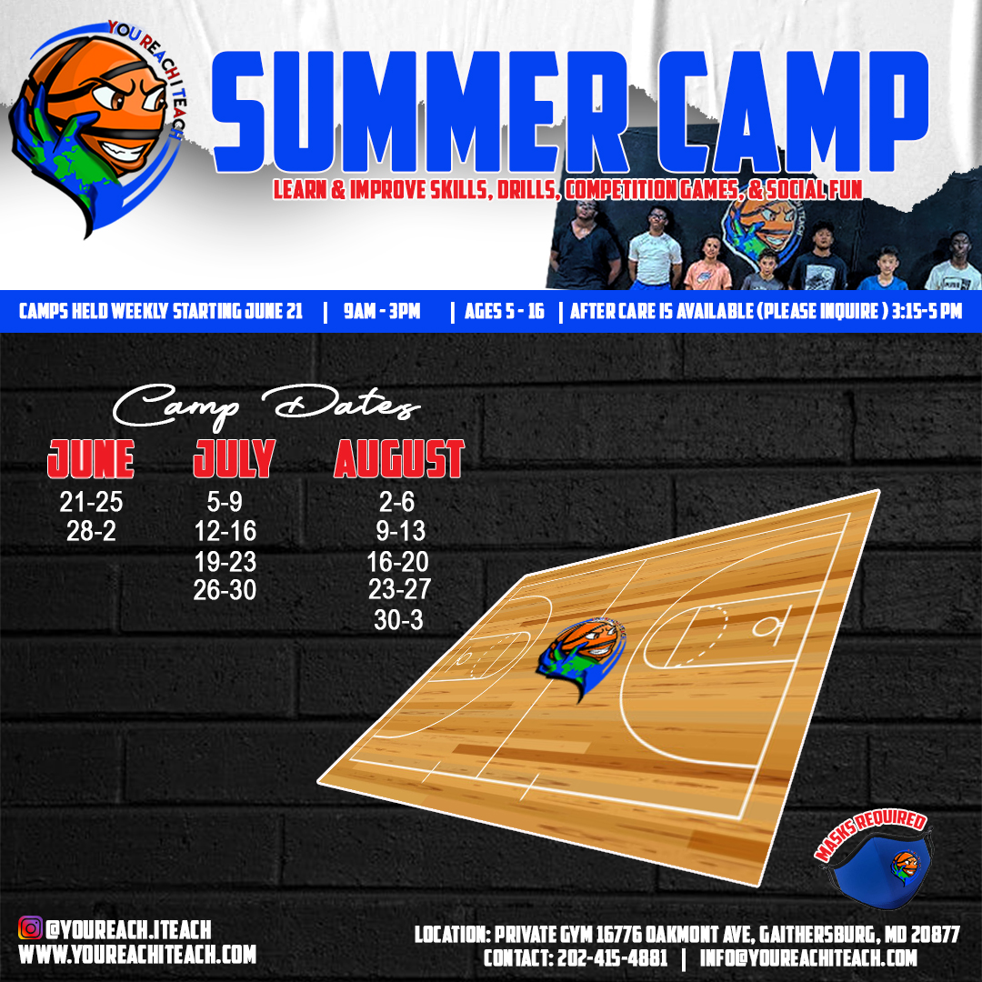 You Reach I Teach Summer Camp 2021 Flyer