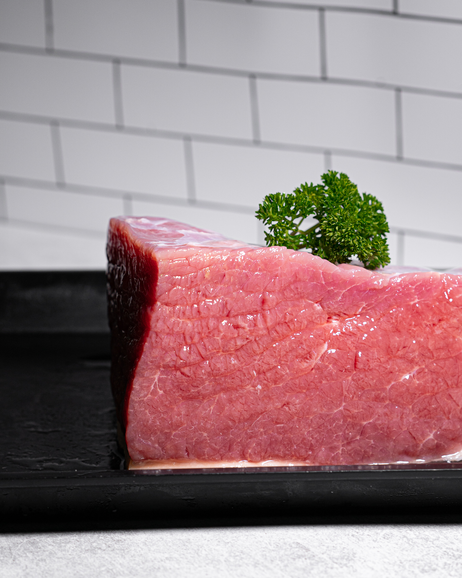 a piece of corned beef.