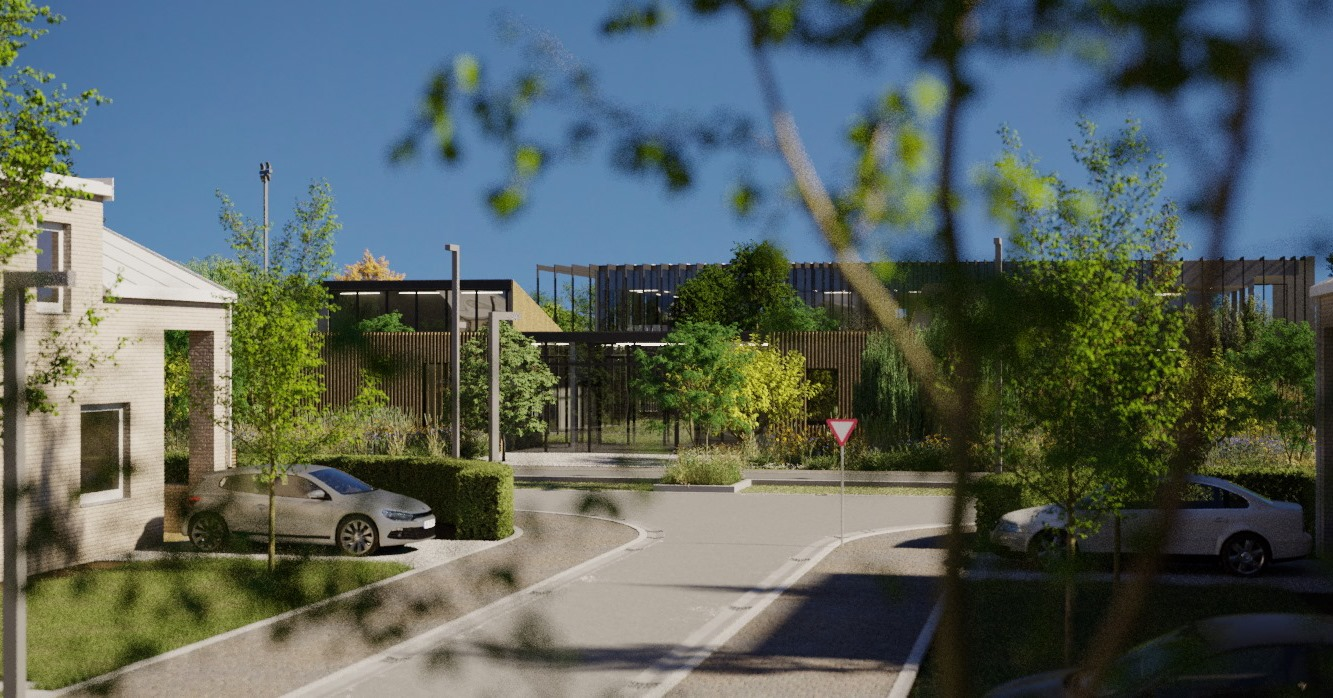 Casa intr-un ansamblu rezidential verde